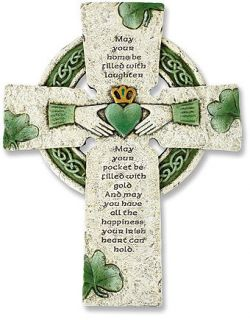 Irish Wall Cross with Traditional Irish Blessing