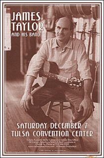 James Taylor 2002 Original Tulsa Concert Poster Signed