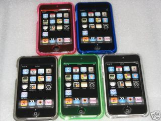 5X iPod Touch iTouch 2G 3G Crystal Hard Case 8x Screen Protector