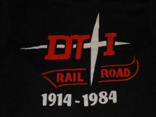 Vintage 1984 DTI Detroit Toledo Ironton Rail Road Screen Stars T Shirt
