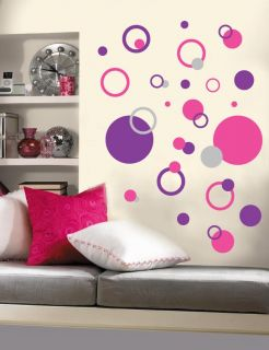 Polka Dots Circles Rings Vinyl Wall Decal Stickers 3