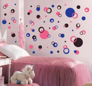 99 Modern Retro Polka Dots Circles Rings Vinyl Wall Decal Decor