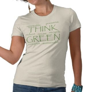 Think Green Buzz Words T Shirt