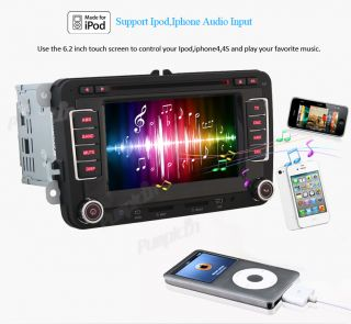 DIN Car Radio DVD Player GPS Navigation iPod Radio F VW Golf 5 6