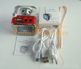 Portable LCD Music Player Speaker FM Radio USB SD iPhone iPod MP3