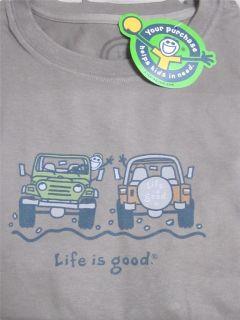 Life Is Good Jeep Wave T Shirt Brown Men L XL
