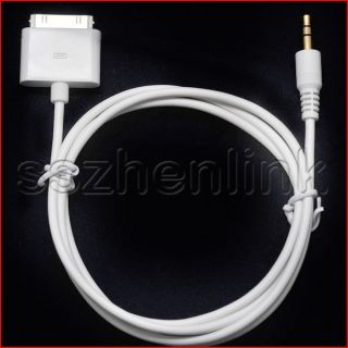 iPod Dock Cable End Male to 3 5mm Cable Aux Input W