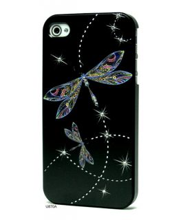 3D Relief Rhinestones Hard Cover Case for iPhone 4 U870A