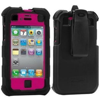 iPhone 4 4S Ballistic HC Case Hot Pink w Holster At t Verizon Sprint