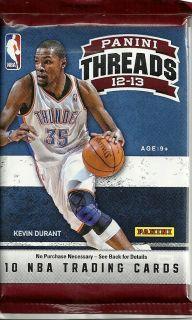 Panini THREADS Basketball AUTO HOT PACK Autograph Anthony Davis Irving
