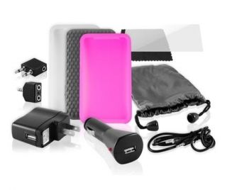 Ematic EI025GT iPod Touch Accessory Kit Wall Car Charger Cases