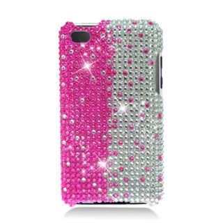 SILVER GRADIENT BLING RHINESTONES COVER CASE   IPOD TOUCH 4TH GEN 3G
