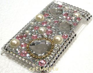 Bling Rhinestone Back Cover Case for iPod Touch 4th Gen