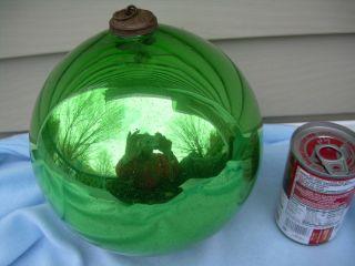 ANTIQUE VINTAGE GLASS MERCURY GREEN KUGEL CHRISTMAS ORNAMENT 25