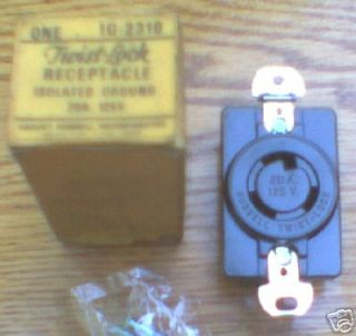 Receptacle IG2310 20 Amp 125 Volt IG2310A 2 Pole Isolated Ground