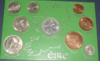 Ireland UNC Coin Set with Silver Coin Lovely Set