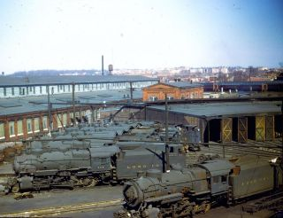 LIRR Long Island Morris Park Roundhouse 7 Steam Locomotives Shops 1950