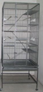 Large Wrought Iron Bird Cage Finches Cockatiels Sugar Glider Ferret