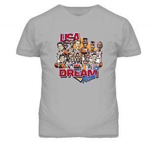 USA Dream Team Retro Caricature T Shirt