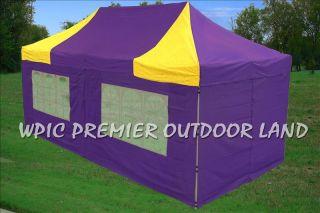 10x20 Pop Up Canopy Party Tent Gazebo EZ Yellow Purple