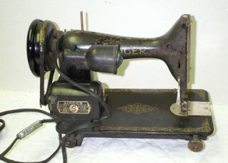 Vintage 1949 Era Black Singer Sewing Machine Model 15 91 Serial Number