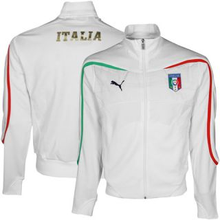 Puma Italy White Walk Out Full Zip Track Jacket