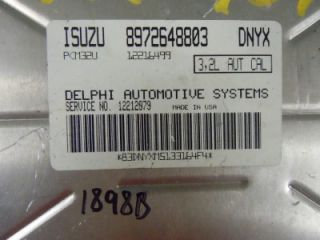 02 Isuzu Axiom Engine Computer ECM ECU PCM 8972648803