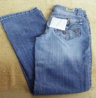 Girls Straight Leg Jeans Size 10 Slim Light Blue Denim GYS 8