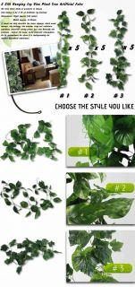 Silk Hanging Ivy Vine Plant Tree Artificial Fake 1