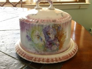 Vintage Hand Painted Italian Cake Cheese Plate