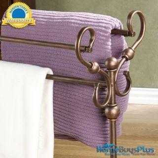 Isobel Blanket Quilt Rack Towel Bedroom Antique Bronze Finish