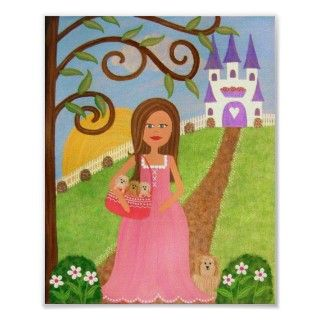 Rapunzels Castle   Princess Castle Kids Wall Art Posters