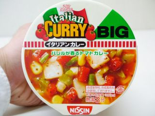 Nissin Cup Noodle Italian Curry Big 12 Set Shipping Free