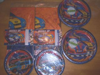 Lot Nascar Racing Birthday Party Supplies plates tablecloth