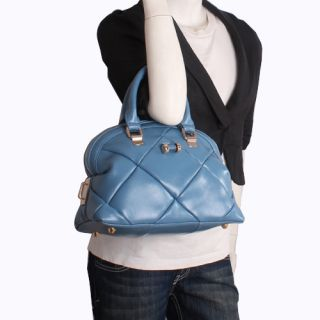 Genuine Italian Leather Blue Handbags, Purse Hobo Bag, Satchel, Tote