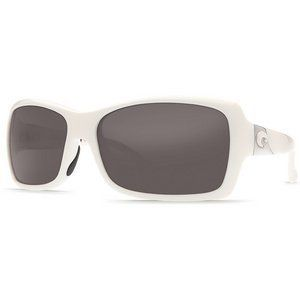 New Costa del Mar ISLAMORADA Sunglasses Polarized 400 White Gray