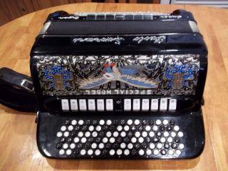 Soprani Super Organ 6 Row Button Accordion Tone Chamber Italy B System