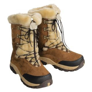Womens Itasca Anastasia Faux Suede and Faux Fur Brown Snow Boots Sz