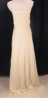 CREW Size 2 Petite Robin Silk Tricotine Wedding Dress Gown Ivory