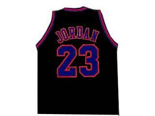 Michael Jordan Tune Squad Space Jam Movie Jersey Black New Any Size