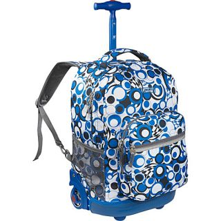 World Sunrise Rolling Backpack Chess Blue