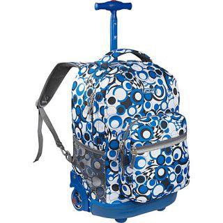 World Sunrise Rolling Backpack Chess Blue