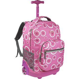World Sunrise Rolling Backpack Pink Target