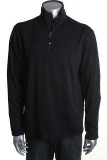 IZOD New Black Lightweight Cool FX Base Layer Mock Neck Casual Shirt s