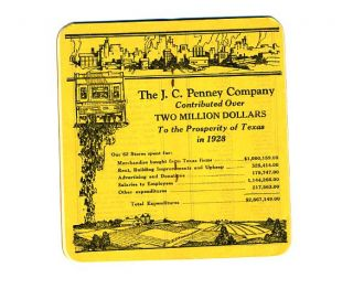 Penney Department Stores Notebook 1929 Mint