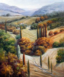 Italian Wine Country Homes Landscape Art Oil Painting