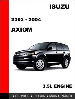 ISUZU AXIOM 2002 2004 OEM FACTORY SERVICE REPAIR MANUAL IN FAST PDF