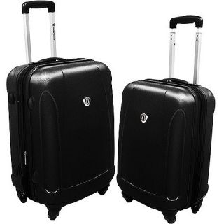 Brand New Travelers Choice 2pc Lightweight Luggage Set Black