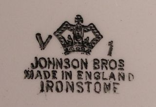 Johnson Brothers China Heritage White Dinner Plate Wear Marks