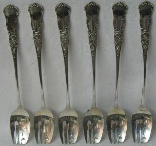 Knowles Lenox Sterling Silver Ramekin Fork Set of 6